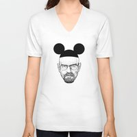 walter white V-neck T-shirts featuring Walter White by Barbo's Art