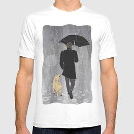 Dog walk in rain T-shirt