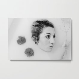 Floral Milk Bath 2 Metal Print