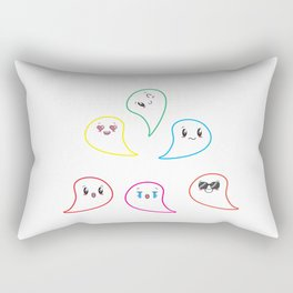 Too Many Spirits cute ghost Rectangular Pillow