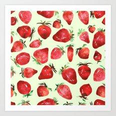 Strawberry vibes Art Print