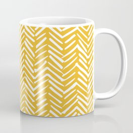Boho Mudcloth Pattern, Summer Yellow Coffee Mug