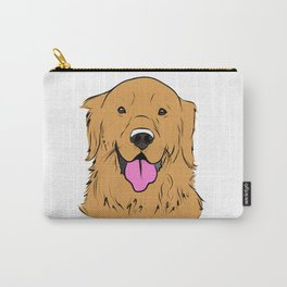Smiling Golden  Carry-All Pouch