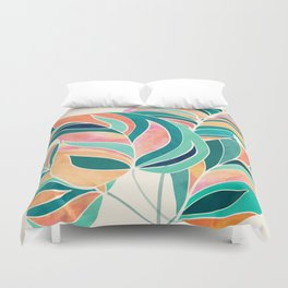 Rise Up / Tropical Leaf Illustration Duvet Cover