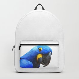 Blue Parrot Portrait Backpack