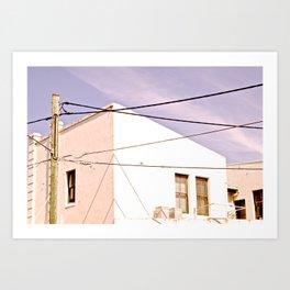 Manly Houses Art Print