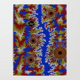 Authentic Aboriginal Art - Waterholes Corela Poster
