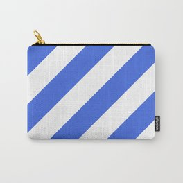 Royal blue diagonal striped pattern Carry-All Pouch