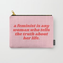 a feminist is - virginia woolf quote Carry-All Pouch