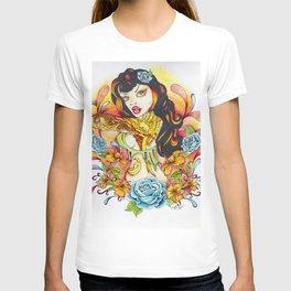 Rockabilly Art - Comic Art - Pop Surreal - Flight of the Phoenix - Fantasy Art  T-shirt