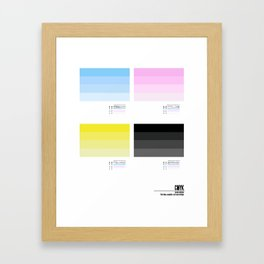 Low ink collection Framed Art Print