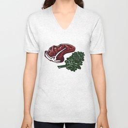 Steak and Kale Unisex V-Neck