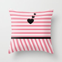 Love Forever Hearts Throw Pillow