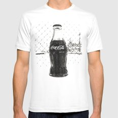 Frosty Coke MEDIUM Mens Fitted Tee White