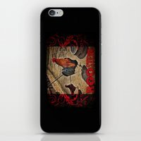 rooster iPhone & iPod Skins featuring Rooster by Justin Alan Casey