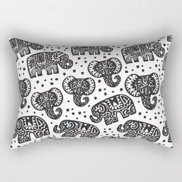 Beautiful pattern Indian Elephant with polka dot ornaments Rectangular Pillow