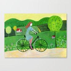 bike trip Canvas Print