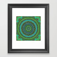 Hippie mandala 44 Framed Art Print