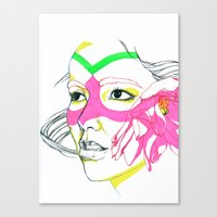 bjork Canvas Prints featuring Bjork by Taylor Vanseveran