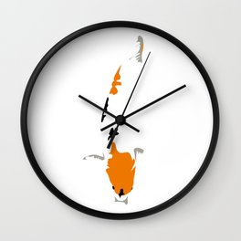 White Koi Wall Clock