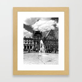 Louvre in High Drama Framed Art Print