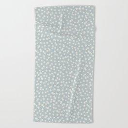 SILVER STARS CONFETTI Beach Towel