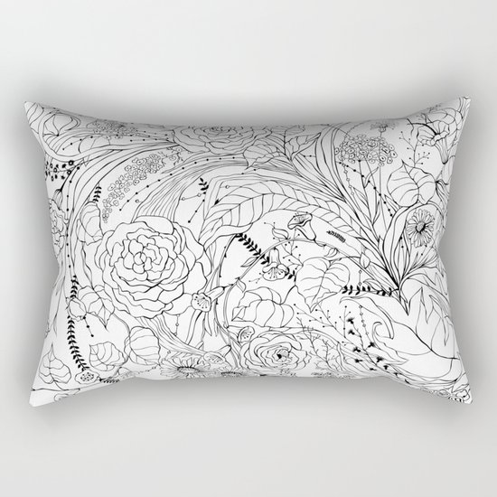 Bouquet of various flowers Rectangular Pillow