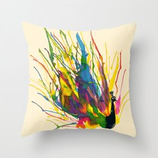 Colorful Peacock Throw Pillow