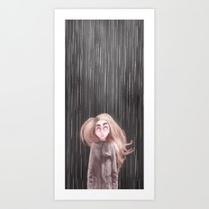 Awaiting For the Rain Art Print