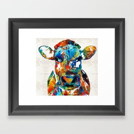 Colorful Cow Art - Mootown - By Sharon Cummings Framed Art Print