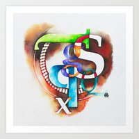 letters Art Prints featuring Letters by Hande Unver