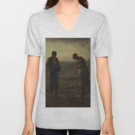 The Angelus by Millet Unisex V-Neck