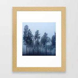 Fog and Forest II-wood,mist,romantic, greenery,sunset,dawn,Landes forest,fantasy Framed Art Print