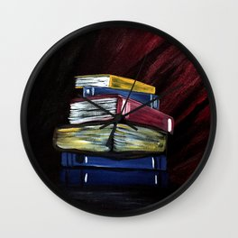 Books Of Knowledge Wall Clock