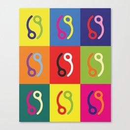 Skydive Pop Art Pin  Canvas Print