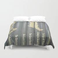 conan Duvet Covers featuring Sherlock Holmes by Sir Arthur Conan Doyle by Madreflections