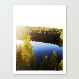 A Glowing Midsummer's Eve Canvas Print