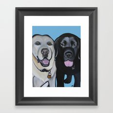 Indie & Daisy the labs Framed Art Print
