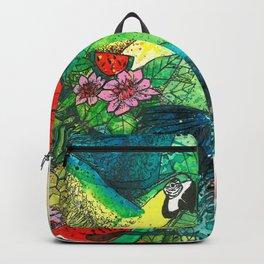 Macaw with watermelom, Viva La Vida Backpack