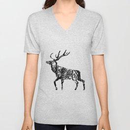 Deer in the forest Unisex V-Neck
