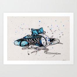 Blue Chucks Art Print