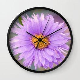 A Purple Flower Wall Clock
