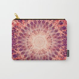 Apricot Mandala Carry-All Pouch