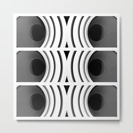Plotter black and white Metal Print