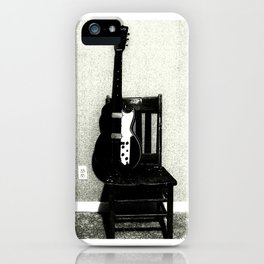 This Chair and Guitar Weren't Always So Lonely iPhone Case
