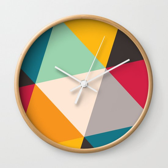 Geometric Triangles Wall Clock
