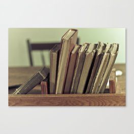 Retro Books Canvas Print