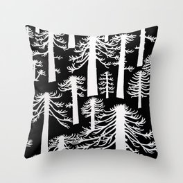 Araucarias Blancas Throw Pillow
