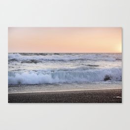 Looking at the sea.... Magnetic waves Canvas Print