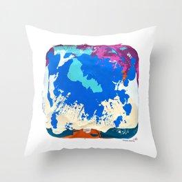 RAIN OVER CALICO Throw Pillow